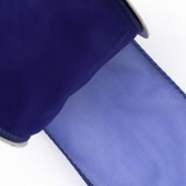 "2 1/2"" Wired Organza Ribbon - 10 Yards (Royal Blue)"