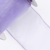"2 1/2"" Wired Organza Ribbon - 10 Yards (Iris)"