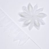 """2"""" Star Shape Pull Pouch (White)"""