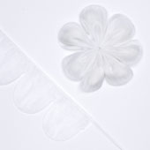 """2"""" Flower Petal Pull Pouch - 10 Yards (White)"""