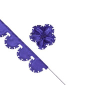 """2"""" Butterfly Pull Pouches - 10 Yards (Purple)"""