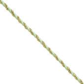 3mm 2 Ply Twist Cords - 25 Yards (Mint Green/Gold)