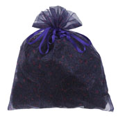"""10"""" x 12"""" Organza Leopard Pouch-Sold by 6 Pieces (Individually Packed) (Purple/Fuchsia)"""
