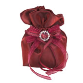 """3""""x5"""" Two Tone Shimmer Diamond Gusseted Pouch-Sold by 6 Pieces (Indiviually Packed) (Wine)"""