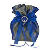 """3""""x5"""" Two Tone Shimmer Diamond Gusseted Pouch-Sold by 6 Pieces (Indiviually Packed) (Royal Blue)"""