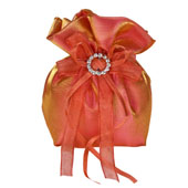 """3""""x5"""" Two Tone Shimmer Diamond Gusseted Pouch-Sold by 6 Pieces (Indiviually Packed) (Peach)"""