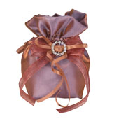 """3""""x5"""" Two Tone Shimmer Diamond Gusseted Pouch-Sold by 6 Pieces (Indiviually Packed) (Copper)"""