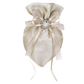 """3""""x5"""" Oval Tow Tone Shimmer Diamond Pouch- Sold by 6 Pieces ( Individually Packed) (Toffee)"""