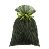 "6""x 9"" Organza Zebra Pouches - Sold by a Dozen Pieces ( 6 Pieces/Inner Pack) (Apple Green/Black)"