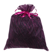 """10""""x 12"""" Organza Zebra Pouch - Sold by 6 Pieces (Individually Packed) (Fuchsia/Black)"""