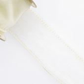 "1 1/2"" Wired Organza Ribbon - 10 Yards (Ivory)"