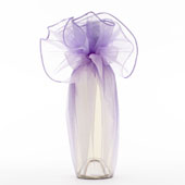 "28"" Round Solid Organza Wrap-Sold by a Dozen Pieces ( 6 Pieces/Inner Pack) (Lavender)"