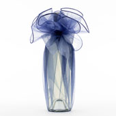 "28"" Round Solid Organza Wrap-Sold by a Dozen Pieces ( 6 Pieces/Inner Pack) (Antique Blue)"