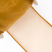 """2 1/2"""" Wired Organza Ribbon - 10 Yards (Antique Gold)"""