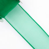 "1 1/2"" Wired Organza Ribbon - 10 Yards (Emerald Green)"