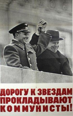 Lot Russian Posters: Propaganda, Space Conquest