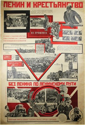 Lot Russian Posters of WWII and Other Periods