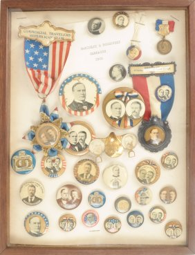 Lot Alan York: Political Buttons & Pinbacks