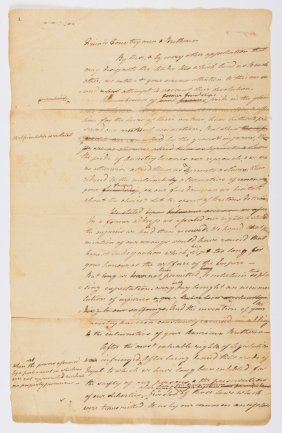 Lot Auction of Revolutionary War Document