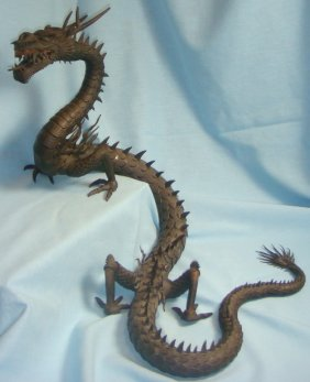 Lot Myochin Dragon, Am & Asian Ant & Collectibles