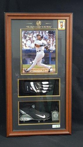 Lot Signed Yankees Memorabilia, Silver, Gold, Art