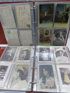 Lot Stamps, Coins, Cigarette Cards & Postcards