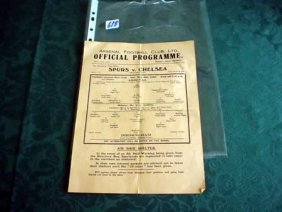 Lot Soccer Programs from 1930's