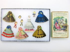 Lot Vintage Paper Doll Auction
