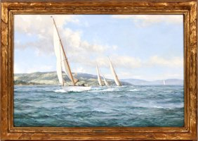 Lot Fine Paintings, Antiques & Jewelry