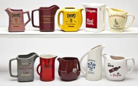 Lot Fenton Glass & Whiskey Advertising Pitchers