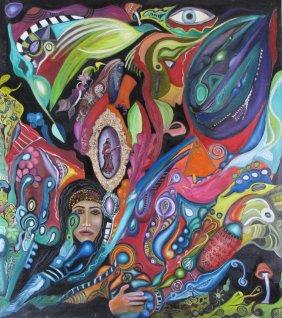 Lot L Zarei Iranian Surrealist Art, Online Only
