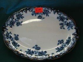 Lot Flow Blue, Majolica, Roseville Auction