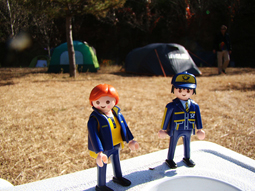 The Little Mail Carriers go camping