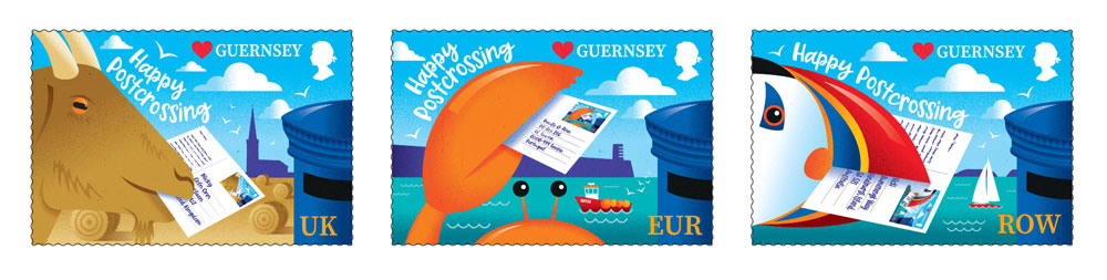 Guernsey Postcrossing stamps
