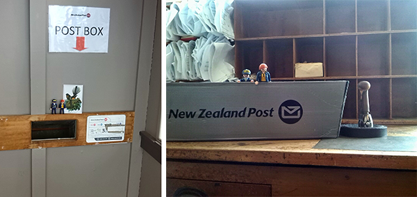 It isn't very exciting, but this is where all our mail goes from! All the mail gets bagged up and sent to the Mainland to be delivered and sorted. You can see our handfrank!