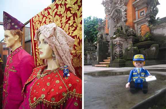 Typical costumes and Bali architecture