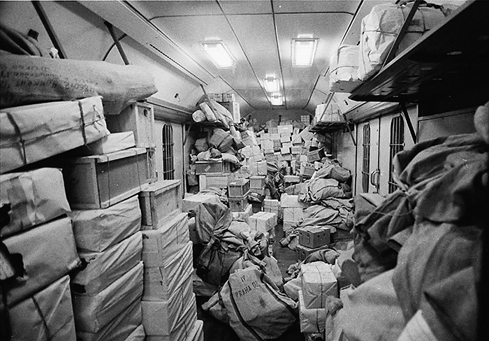 Train Post Office Storage around 1980