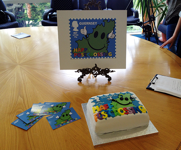 Guernsey Post Postcrossing cake