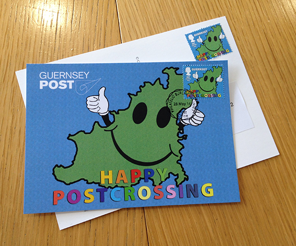 Guernsey Post Postcrossing stamp! intro
