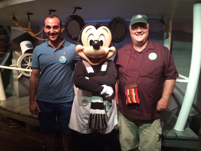 Milad and Carrick at Disneyland