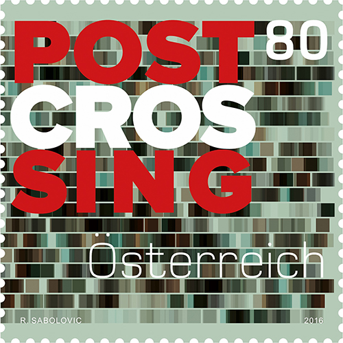 A new Postcrossing stamp... from Austria!