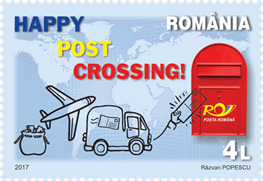 Romanian Postcrossing stamp