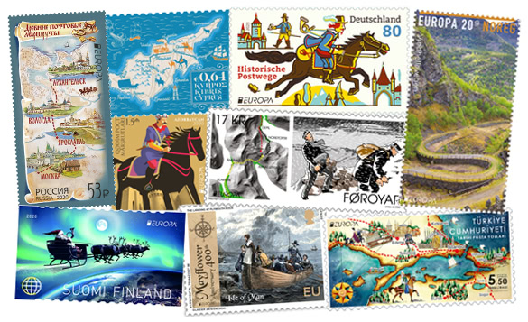 Ancient Postal Routes - EUROPA stamps 2020