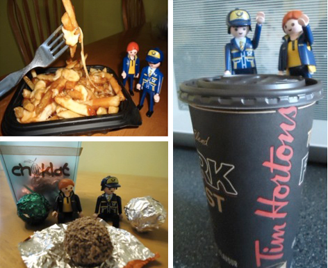 Poutine, chocolate and Tim Hortons!