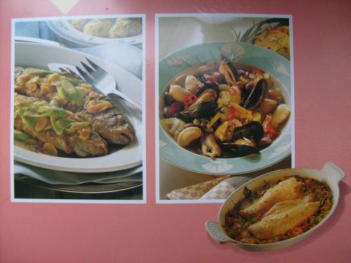 Russian seafood dishes. blogged http://postcrosses.blogspot.com/2011/04/russian-seafood-stews-dishes-kremlin.html