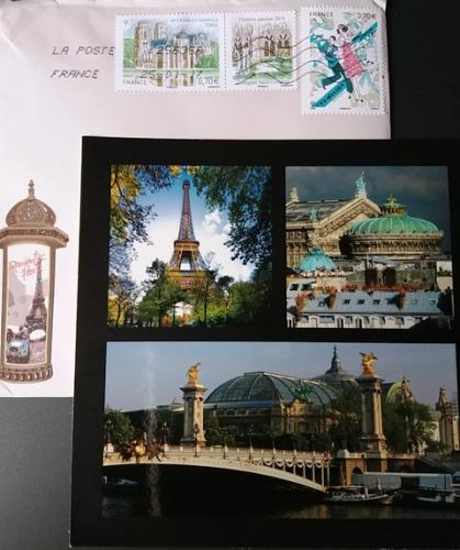 PostCrossing Received from France - Esther Neela