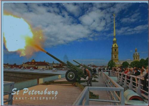 The daily cannon blasting in St. Petersburg