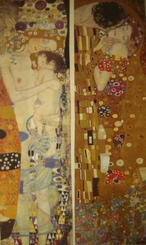 Postcard CA-230488: Gustav Klimt: Mother and Child / The Kiss