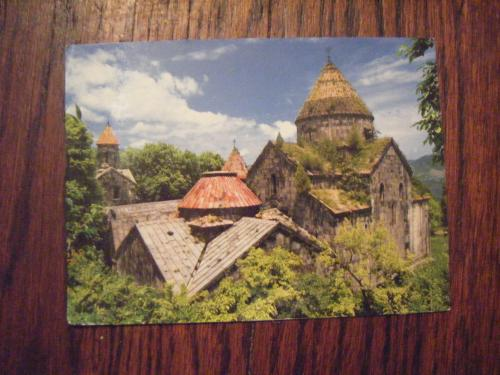 This is a postcard of Sanahin Monastery, in Armenia. 