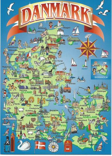 kart over fornøyelsesparker danmark Postkort fra verden   My 6 year old daughter got a small postbox  kart over fornøyelsesparker danmark